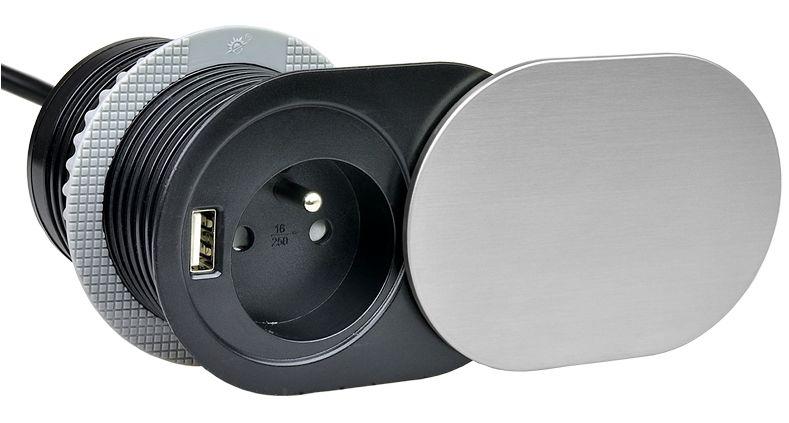 SLIDE BOX - gniazdo meblowe z USB