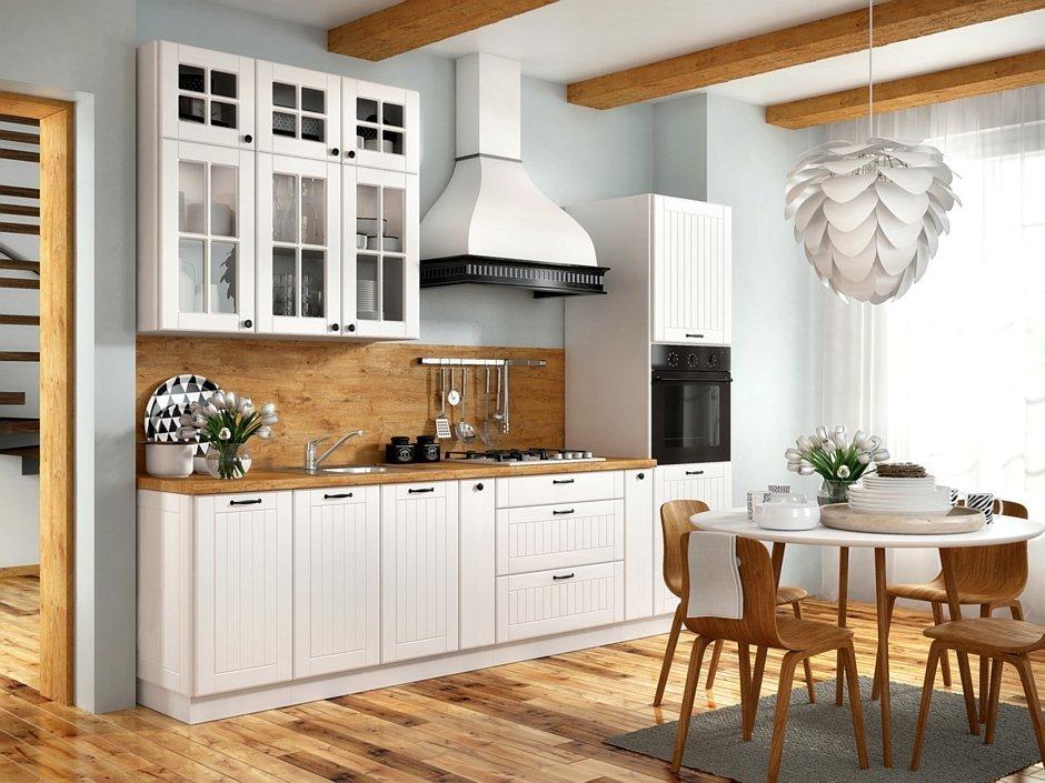 biała kuchnia w rustykalnym stylu