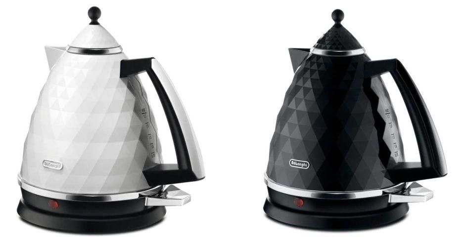 современный электрический чайник белого или черного цвета, вдохновленный бриллиантами?  Brillante