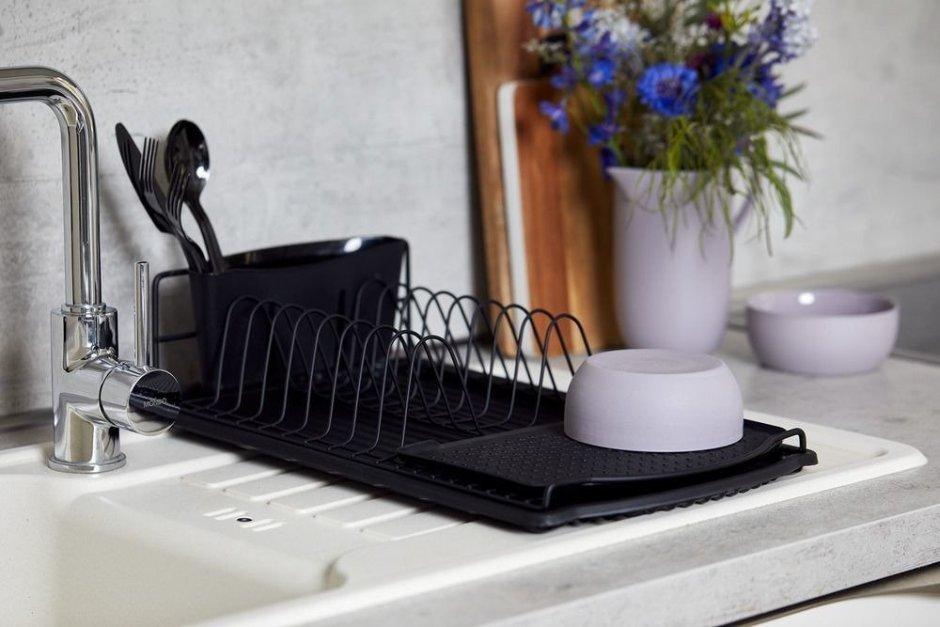 Suszarka kuchenna w kolorze czarnym