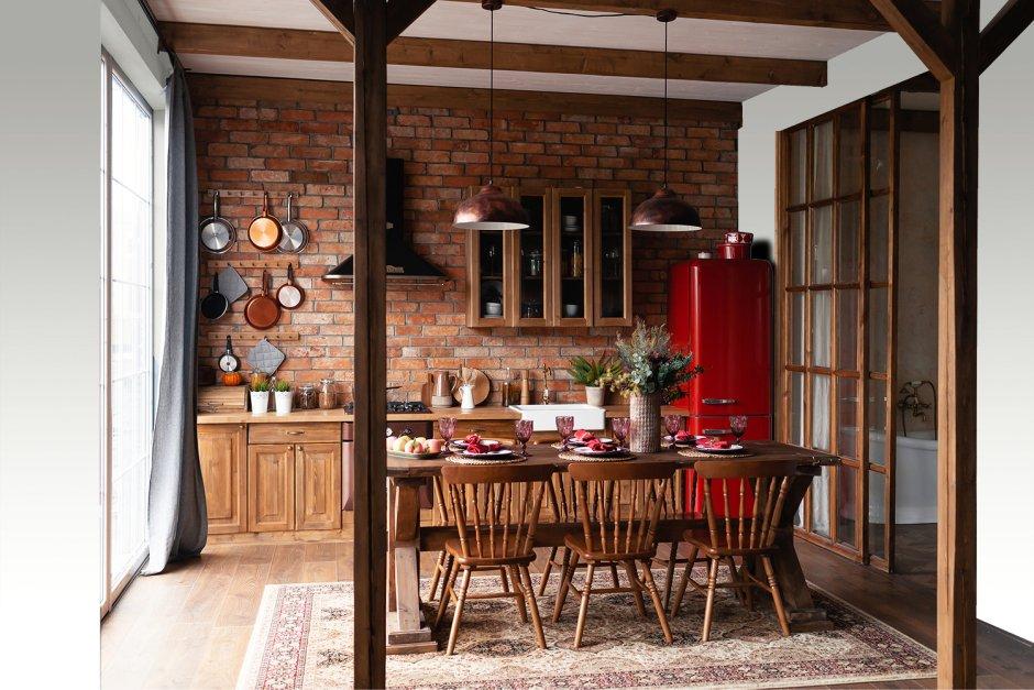 Czerwona cegła w białej kuchni ? piękno i uniwersalność