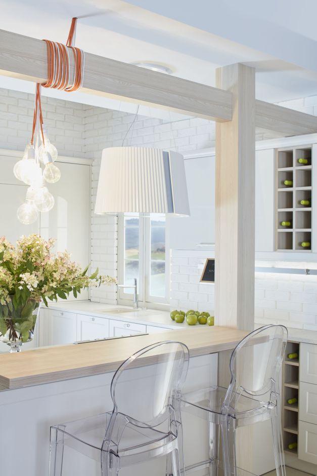Stylowa kuchnia w bieli